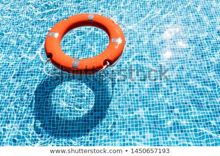 Lifebelt prepare for safe guard in swimming pool Stock photo © punsayaporn