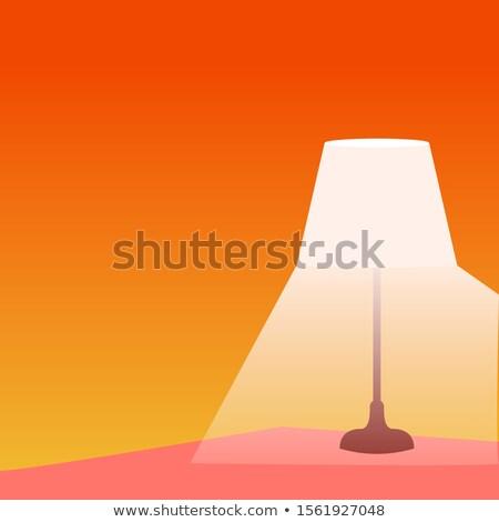 Lámpa elektromos világítás fehér asztal szoba Stock fotó © mayboro1964
