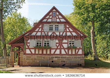 legno · casa · facciata · Inghilterra · costruzione · legno - foto d'archivio © meinzahn