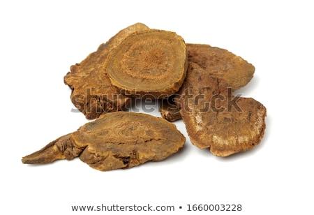 Chińczyk rabarbar korzeń herb używany Zdjęcia stock © marilyna