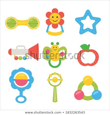 zörgés · játék · baba · játékok · tárgyak · játszik - stock fotó © phbcz