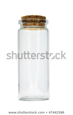 tall empty glass bottle stock photo © dezign56