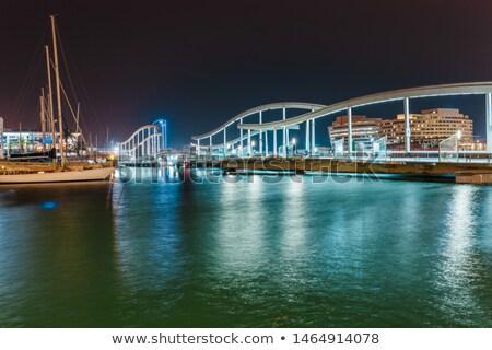 vitorlások · kikötő · Barcelona · Spanyolország · város · sport - stock fotó © digoarpi