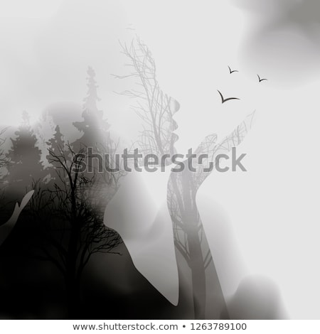 Portrait of a girl in a forest landscape, double exposure Stock photo © Valeriy
