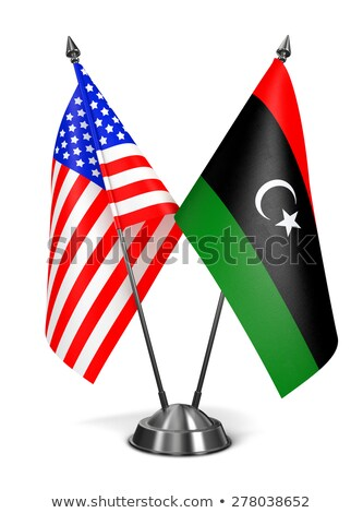 USA and Libya - Miniature Flags. Stock photo © tashatuvango