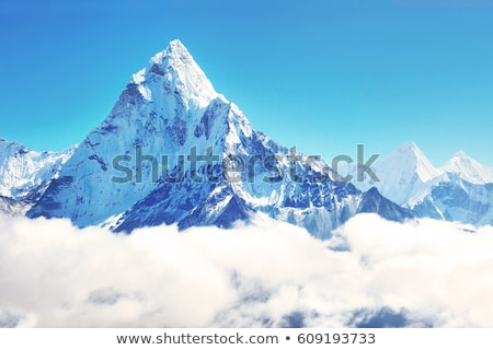montanhas · tibete · luz · neve · azul · viajar - foto stock © all32