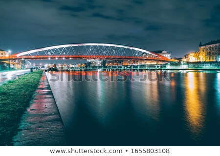 Father Bernatek Footbridge in Krakow Stock photo © rognar