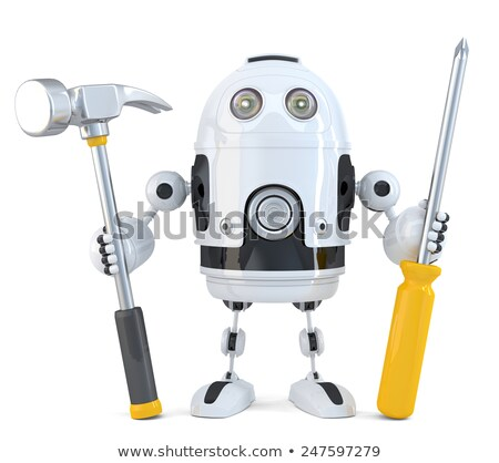 Robot - industrial worker concept. Isolated. Contains clipping path Stock photo © Kirill_M