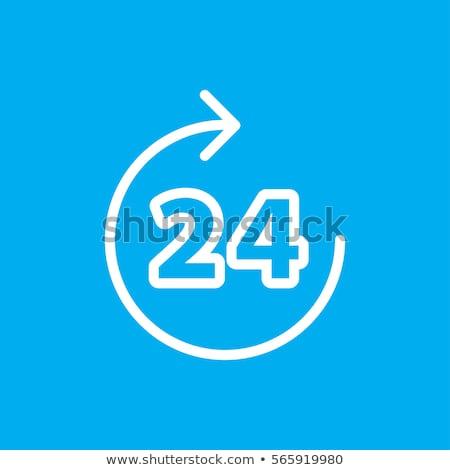 24 サービス オレンジ ベクトル ボタン アイコン ストックフォト © rizwanali3d