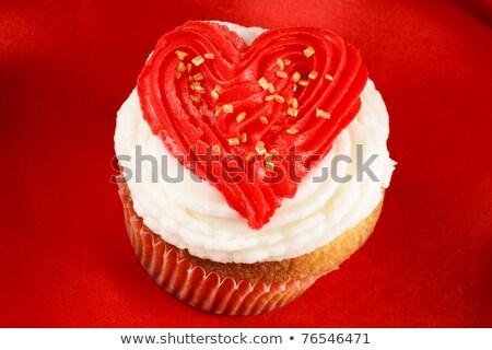 バレンタインデー 青 装飾された 赤 バタークリーム ストックフォト © aladin66