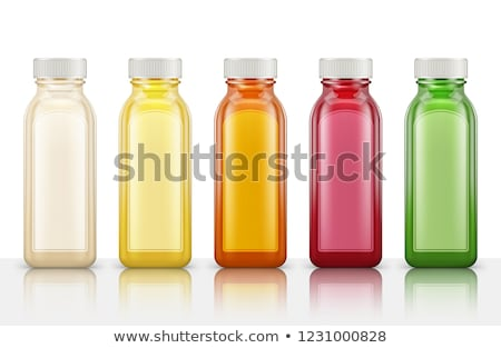 piros · sampon · üveg · izolált · fehér · test - stock fotó © tetkoren