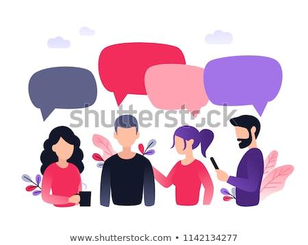 対話 バブル 葉 実例 白 芸術 ストックフォト © get4net