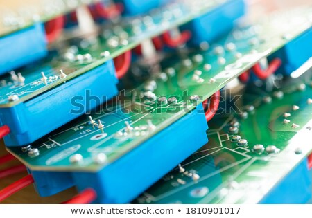 Blue and green electronic capacitor Stock photo © ozaiachin