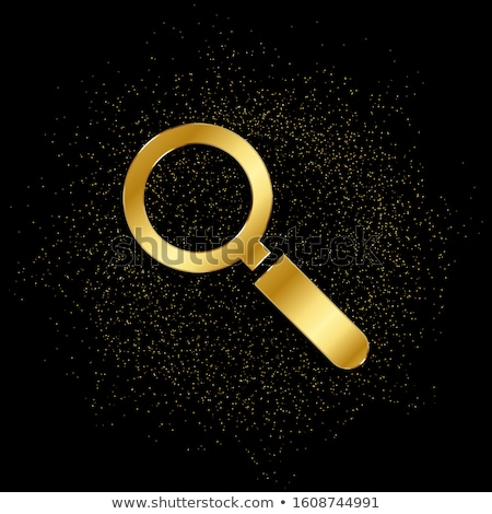 Zoom In Golden Vector Icon Button Stock photo © rizwanali3d