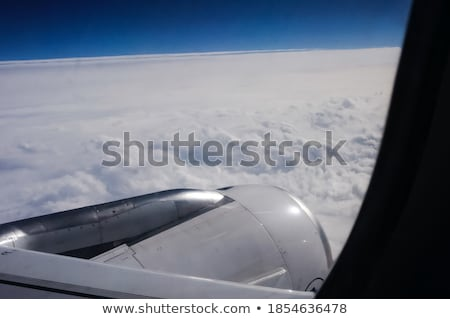Airplane reactor sky view from aircraft  clouds Stock photo © lunamarina