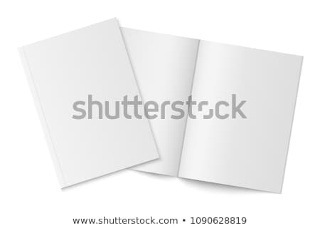 Open empty paper booklet on white background Stock photo © cherezoff