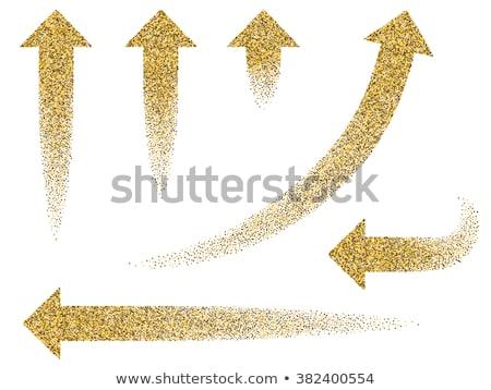 Felfelé lefelé nyíl arany vektor ikon terv Stock fotó © rizwanali3d