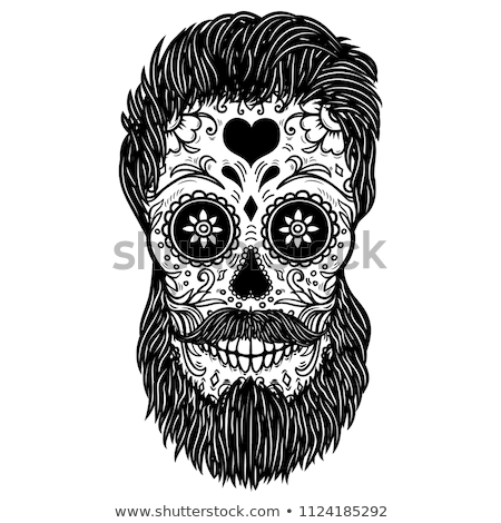 print   mexican sugar skull day of the dead poster stock photo © rommeo79