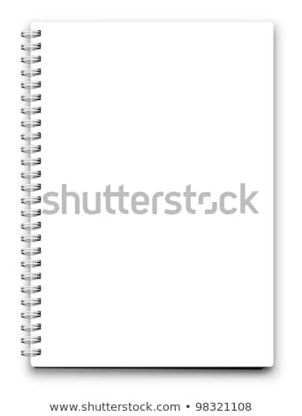 gerçekçi · notepad · defter · yalıtılmış · beyaz · vektör - stok fotoğraf © rommeo79