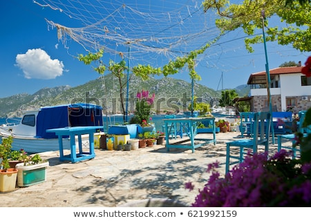 jachthaven · Turkije · stad · sport · zee · berg - stockfoto © AntonRomanov