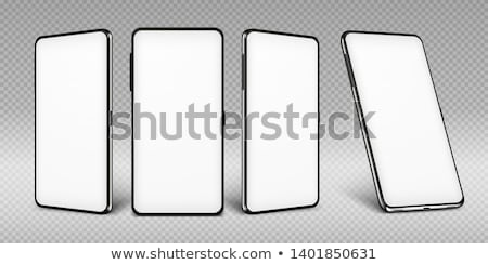 valósághű · idejétmúlt · fekete · telefon · izolált · fehér - stock fotó © smeagorl