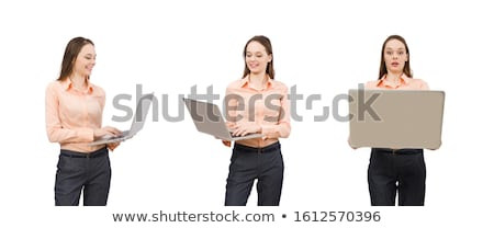 Pretty office manager isolated on white Stock photo © Elnur