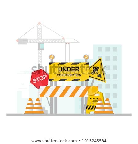 weg · werknemers · asfalt · machine · wegenbouw - stockfoto © stevanovicigor
