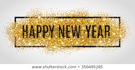 Merry Christmas and happy new year 2017 golden card, vector illustration Stock photo © carodi