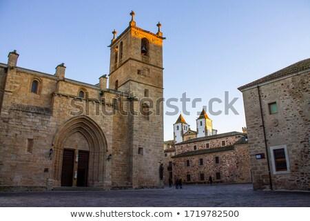 Stok fotoğraf: Kilise · İspanya · gün · batımı · Bina · şehir