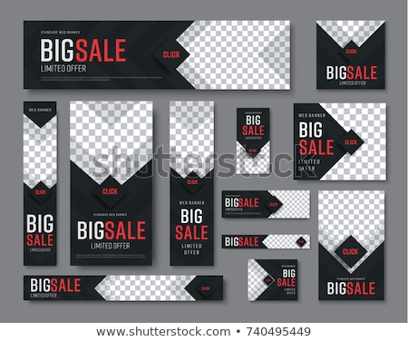 abstract set of web banners and business cards vector Stock photo © SArts