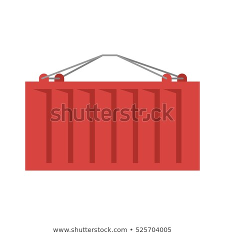 Cargo container red isolated. ISO-container. metal box intended  Stock photo © popaukropa