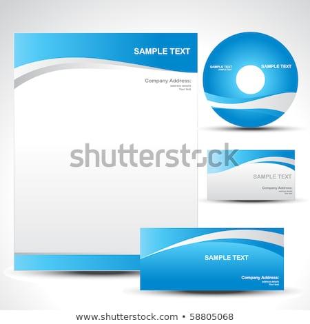 Wave Letterhead Business Template Vector Design Illustration Stockfoto © PinnacleAnimates