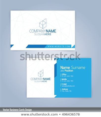 minimal blue business card with pattern design Stock photo © SArts