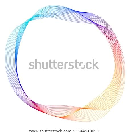 Abstrato colorido anéis cinco isolado branco Foto stock © creativika