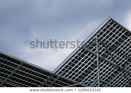 solar panel under cloudy sky in Germany Stock photo © meinzahn