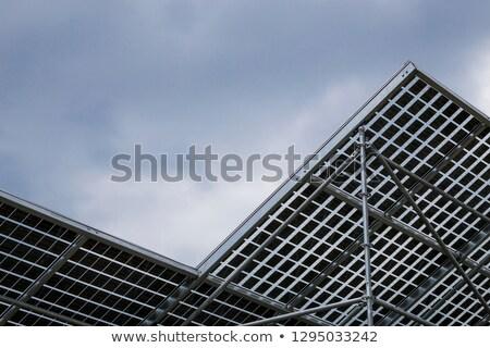 Napelem felhős égbolt Németország technológia mező Stock fotó © meinzahn