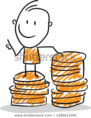 思考 お金 手 図面 人間 頭 ストックフォト © ivelin