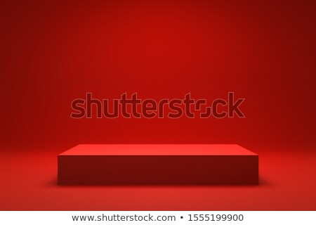 Shelf with red wallpaper Stock photo © SwillSkill