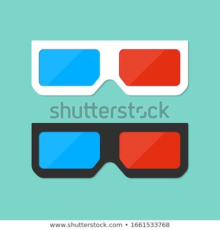 flat style icon 3d movie glasses.  Stock photo © curiosity