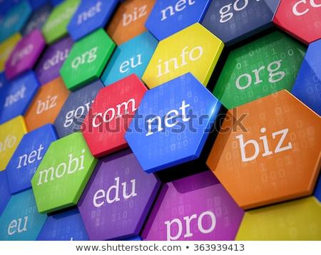 Web hosting knop 3d illustration metalen toetsenbord Stockfoto © tashatuvango