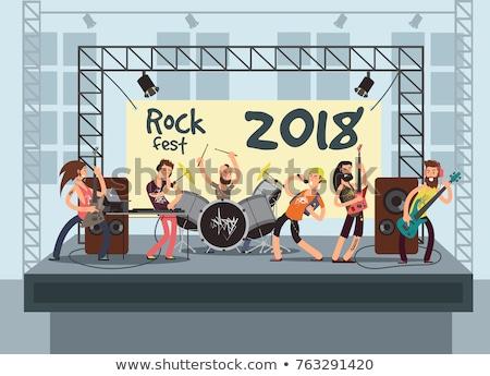 Male drummer performing at music concert Stock photo © wavebreak_media