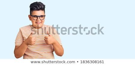 かわいい 少年 オーケー 印相 笑みを浮かべて ストックフォト © wavebreak_media