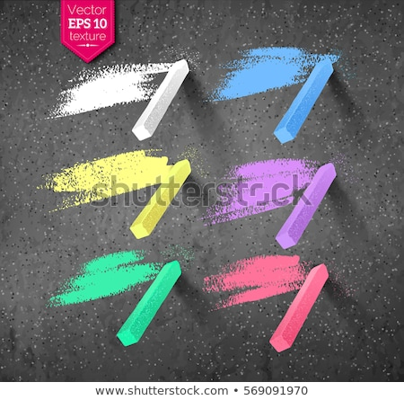 Hand drawn strokes and pieces of colored chalks Stock photo © Sonya_illustrations