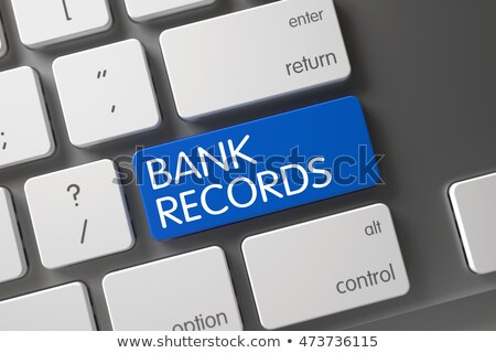 Bank Records - Computer Key. 3D Rendering. Stock photo © tashatuvango