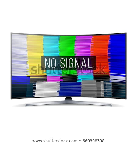 Distorted Glitch TV. Digilal No signal. Glitch Art Show Static Error. Vector Abstract Background Stock photo © pikepicture