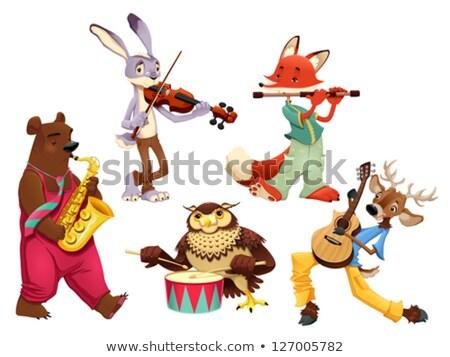 violon · mascotte · illustration · arc · musique - photo stock © ddraw