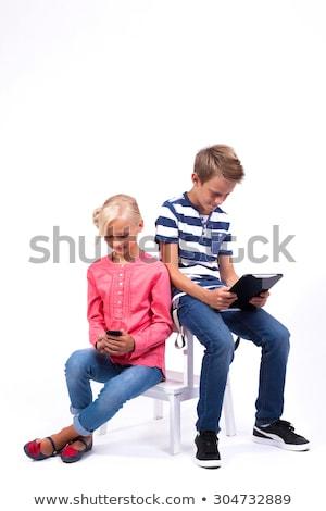 sorridente · aprender · mundo · comunicar · ajudar - foto stock © Traimak