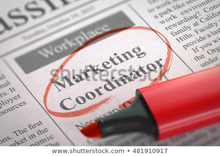 Sales Coordinator Wanted. Stock photo © tashatuvango