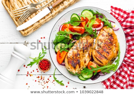 barbecue chicken and vegetables Stock photo © M-studio