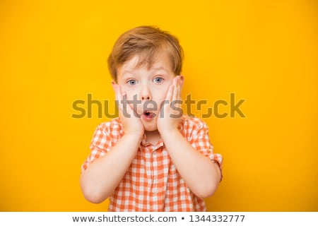Boy with hand on his face stock photo © IS2